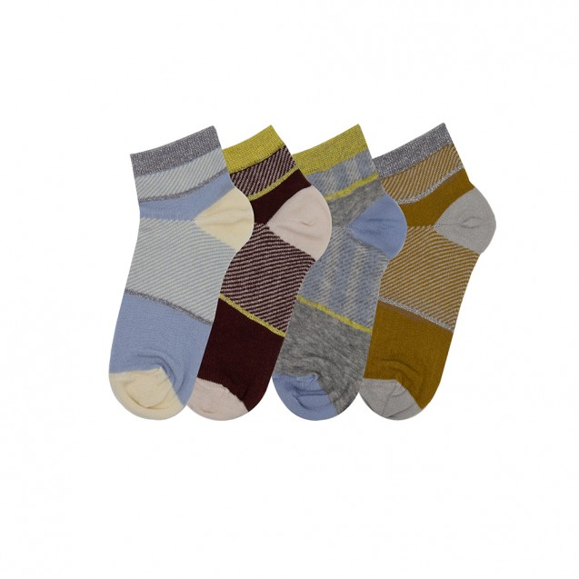 Набор женских носков из 4 пар в полоску