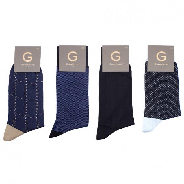 Набор носков из 8 пар в деловом стиле. Синий