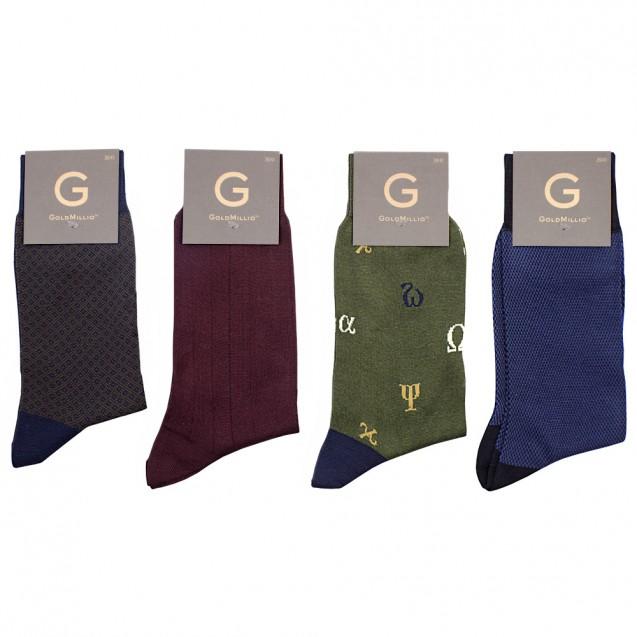 Набор носков из 8 пар в смарт-кэжуал стиле. Разноцветный