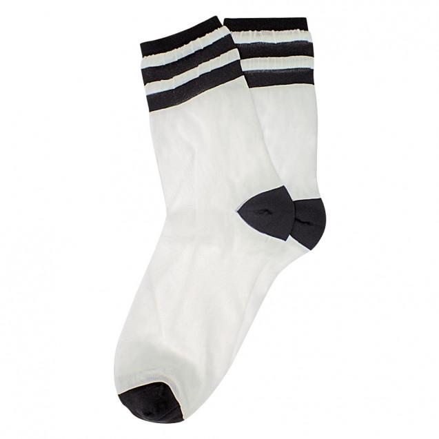 Женские капроновые носки с черными полосками