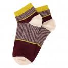 Женские носки бордового цвета с полосками из люрекса