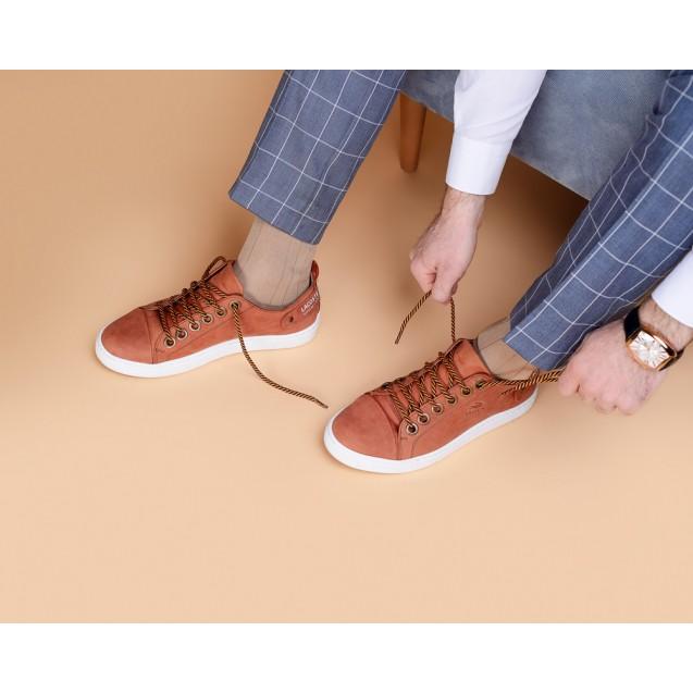 Мужские носки однотонные коричневого цвета