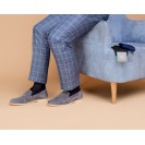 Мужские носки однотонные синего цвета