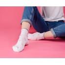 Женские носки белого цвета с розовыми фламинго и люрексом