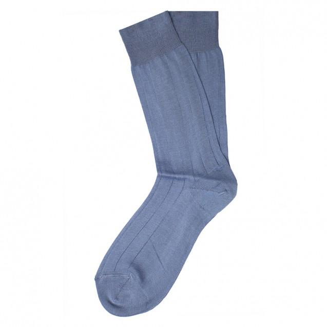 Мужские носки однотонные голубого цвета