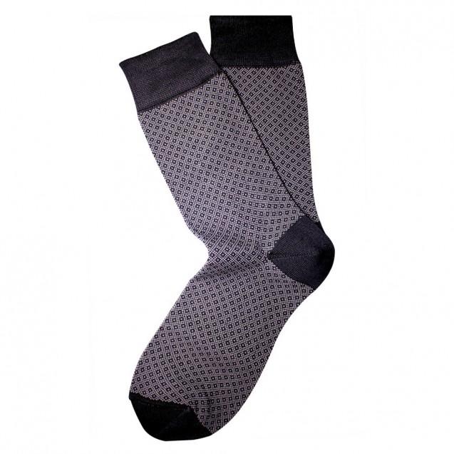 Мужские носки серого цвета в мелкий ромб