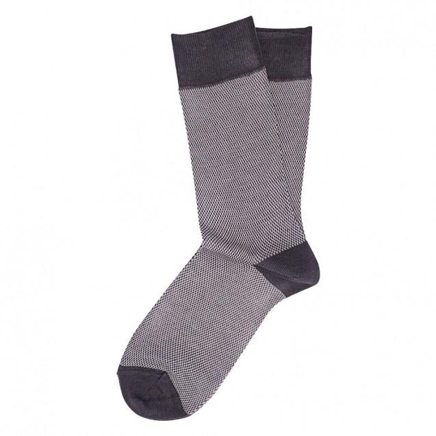Серые носки мужские в мелкую клетку