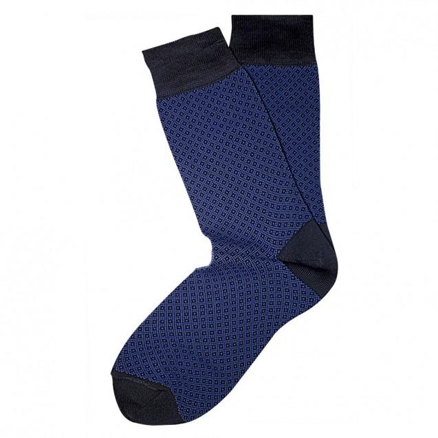 Мужские носки синего цвета в мелкий ромб