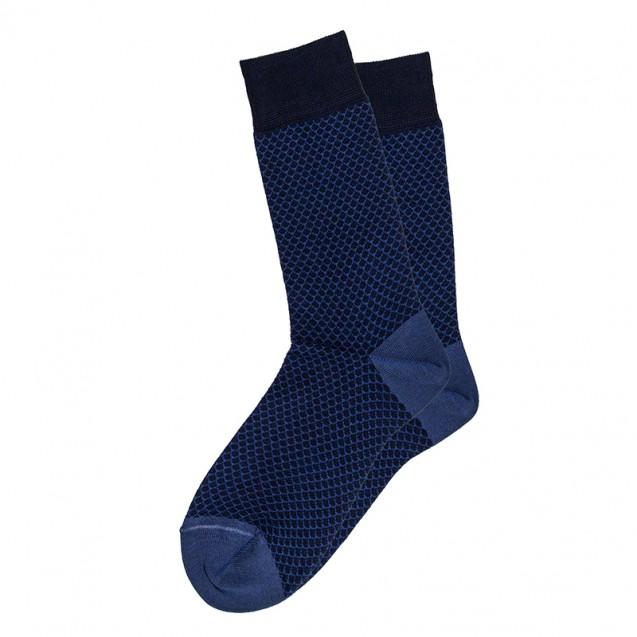 Мужские носки в фишскин голубой