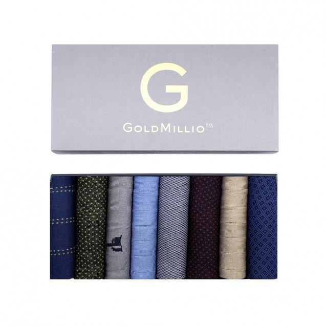 Набор носков из 8 пар в бизнес-кэжуал стиле. Разноцветный