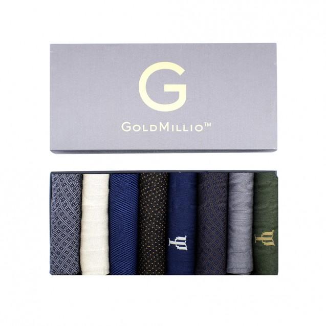 Набор носков из 8 пар в кэжуал стиле. Разноцветный